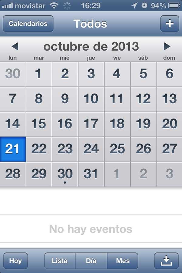 Anota las tareas en el calendario de tu móvil