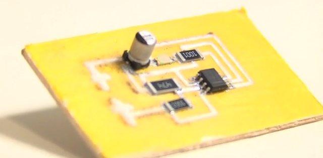 Circuito impreso con los componentes ya soldados
