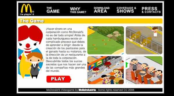 Imagen de McDonald Videogame.