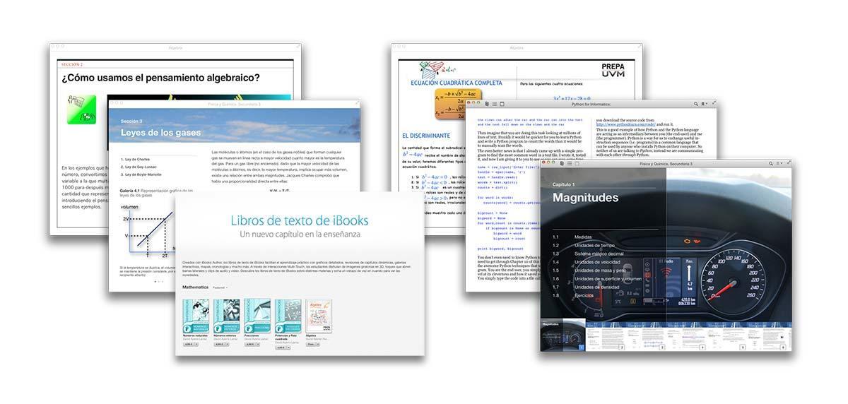Los libros de texto de iBooks en español hacen uso de toda clase de recursos para mejorar la experiencia formativa.