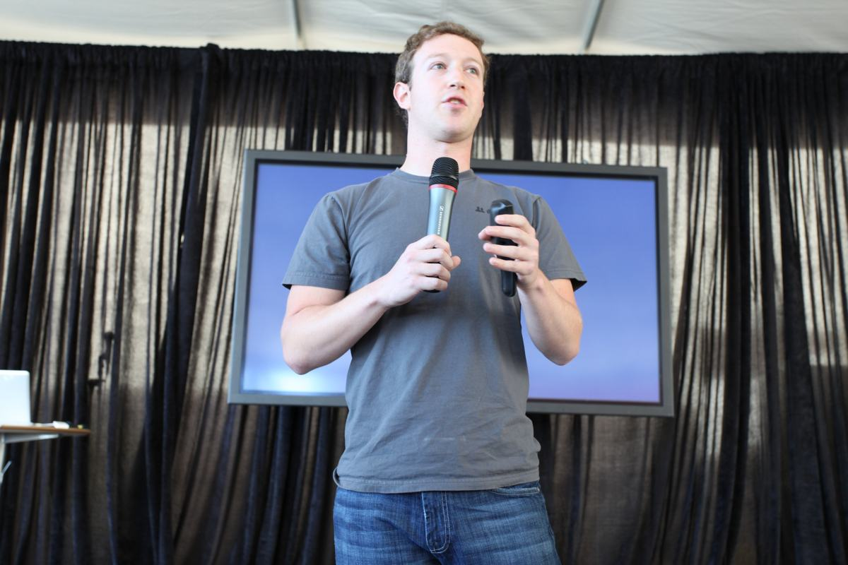 Mark Zuckerberg durante una rueda de prensa