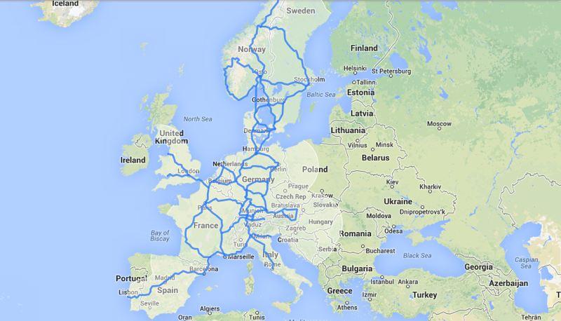 El despliegue de puntos de carga r谩pida de Tesla para Europa a finales de este a帽o.