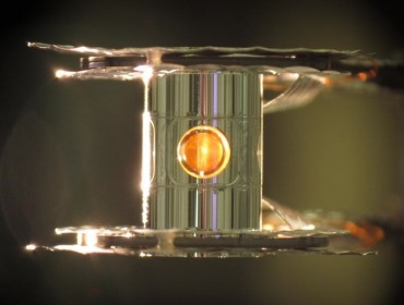 Cápsula en el interior del dispositivo de fusión nuclear. / Dr. Eddie Dewald (LLNL)