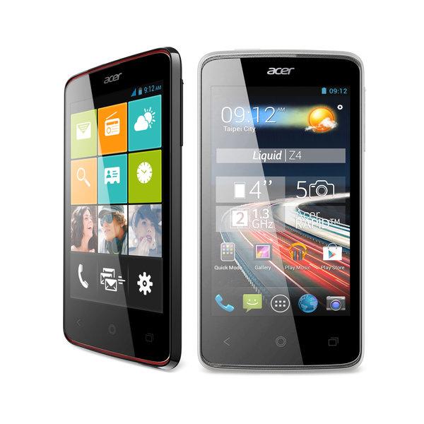 El Acer Liquid Z4 integra procesador de doble núcleo a 1,3 GHz y pantalla IPS de 4 pulgadas