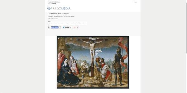 En la sección Pradomedia de la web del museo del Prrado puedes acceder a vídeos y audioguías del museo