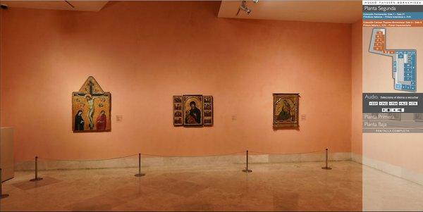 La visita virtual del Museo Thyssen Bornemisza permite recorrer las salas de sus tres plantas
