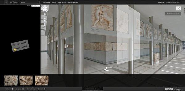 Art Project incluye visitas virtuales a muchos museos cuyas obras aparecen en la plataforma de Google.