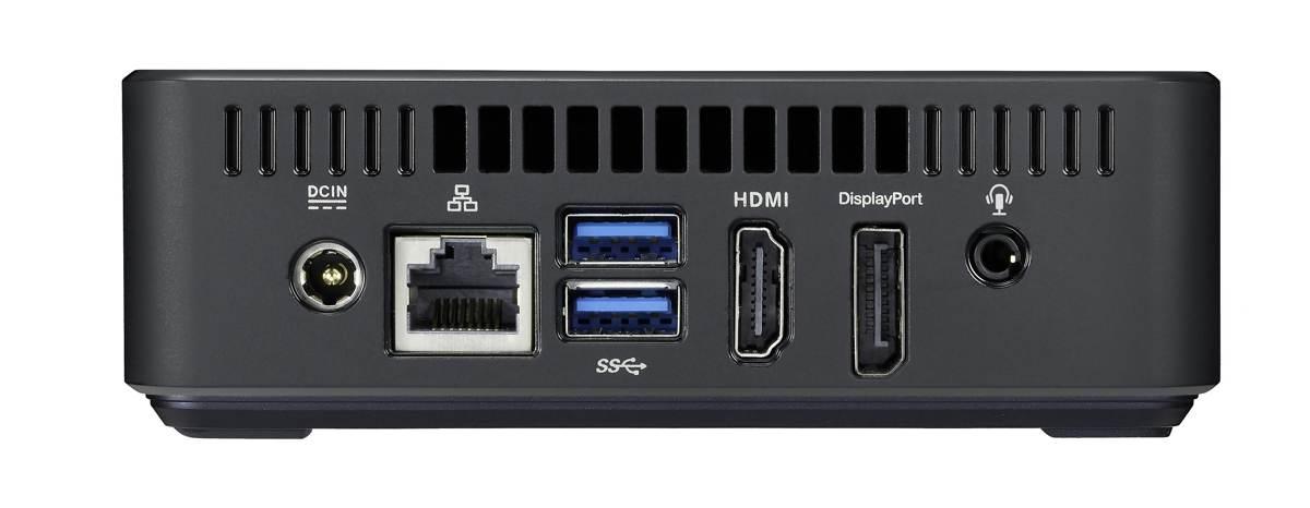 Aquí puedes ver las conexiones del Asus Chromebox.