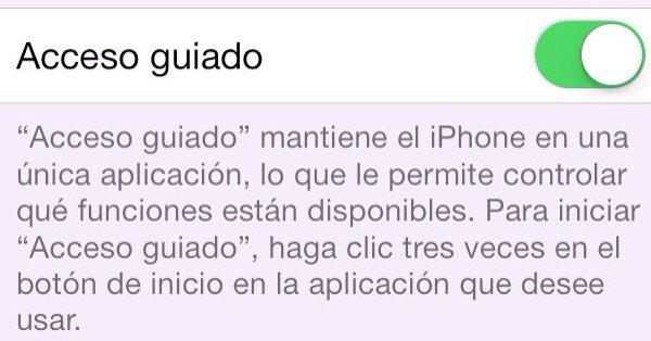 Una vez activado, bastan tres toques en la app que quieras fijar para entrar en el Modo Guiado