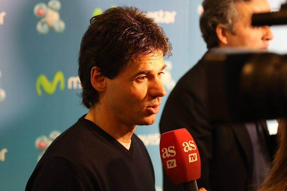 Alex Crivillé durante la presentación de Movistar TV.
