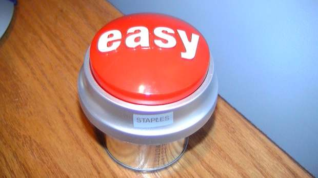 Botón Easy. Imagen proveniente de Wikimedia Commons. Autor: Yskyflyer