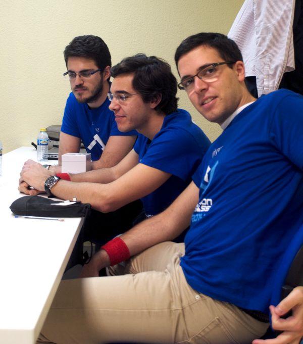 El equipo de Monkey Pizza, ganadores del desafío Telepizza.
