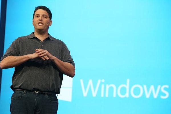 Terry Myerson, vicepresidente ejecutivo de Microsoft, durante su conferencia en el evento Build 2014