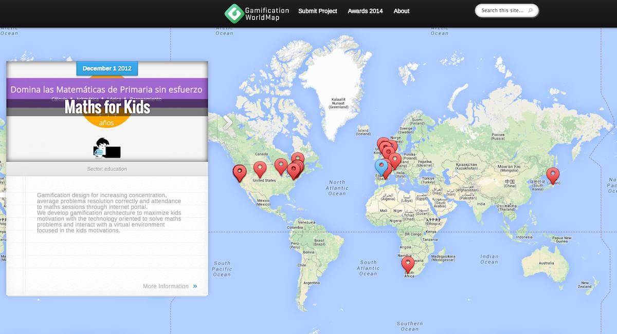 Mapa mundial de la gamificación