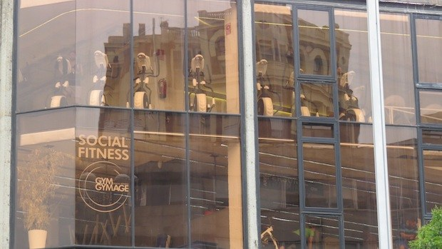 Gimnasio del centro de la capital de España.