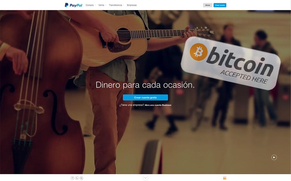 PayPal podría empezar a aceptar operaciones con bitcoin