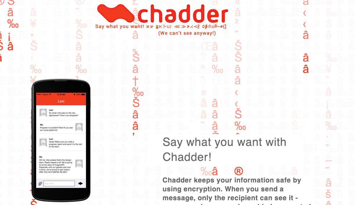 Chadder, una app de mensajería móvil centrada en la privacidad