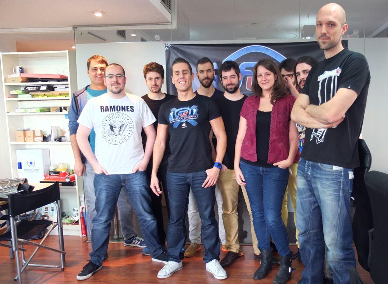 Jairo Calleja Jesús Luengo, Javier Bargueño y el equipo de DragonJam al completo