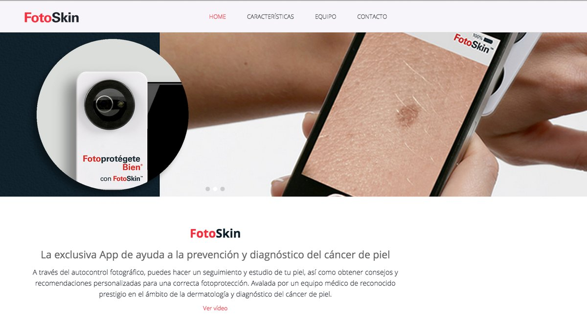 FotoSkin, una app que mejora el diagnóstico precoz del cáncer de piel