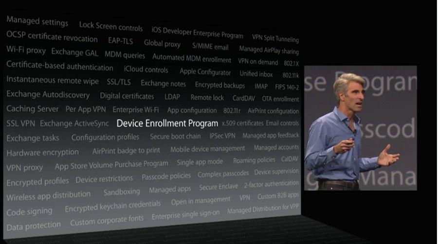 iOS8 incluye muchas características que facilitarán la gestión de los parques de smartphones y tablets en empresas.