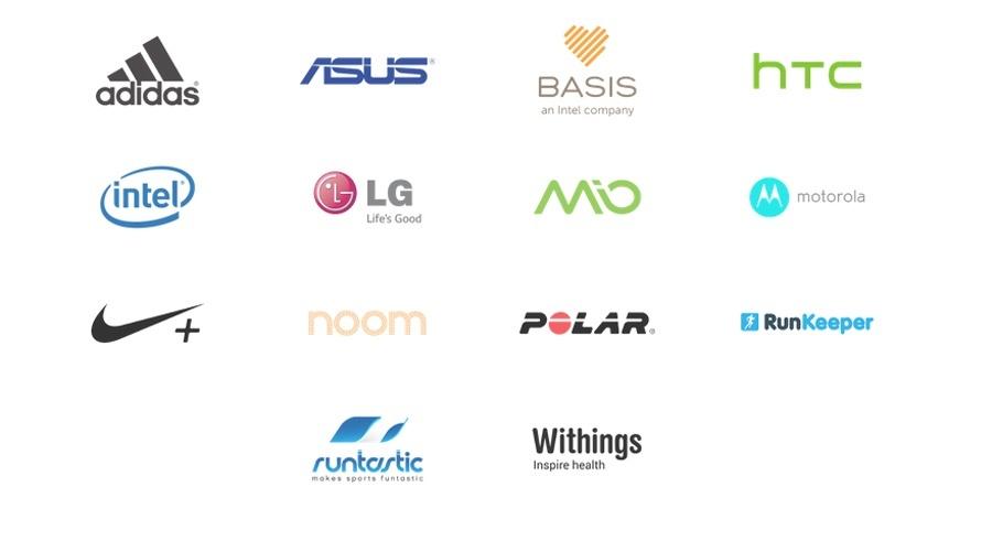 Nike y Adidas no son los únicos fabricantes que participan en Google Fit. La lista de marcas es bastante impresionante.
