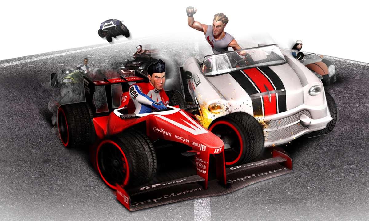 Arte de Formula Wincars, arcade de carreras español que se financia parcialmente en Kickstarter.