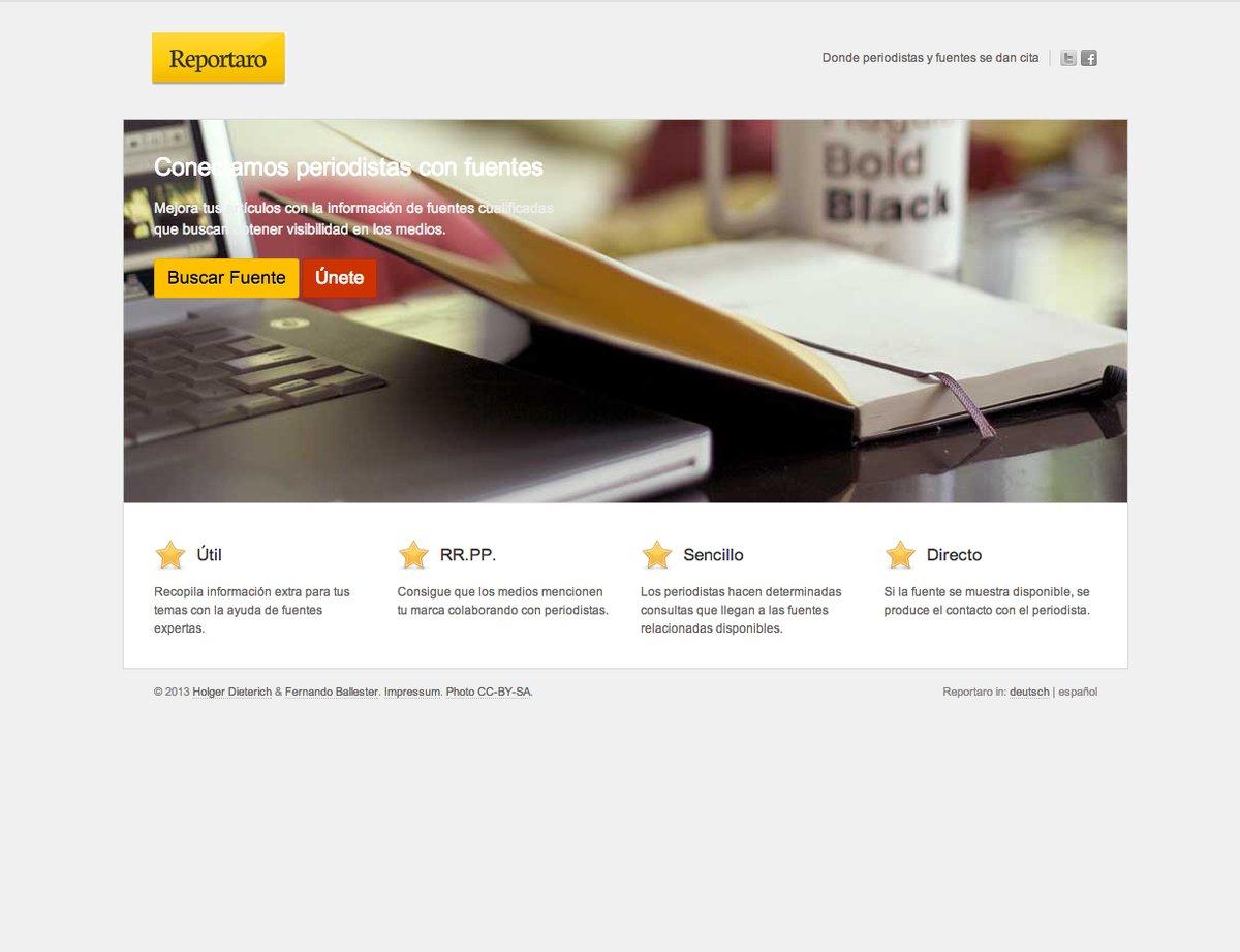 Reportaro, un servicio online que conecta periodistas con fuentes
