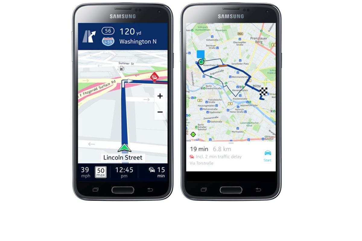 Nokia Here para Android, en exclusiva para los smartphones Samsung Galaxy