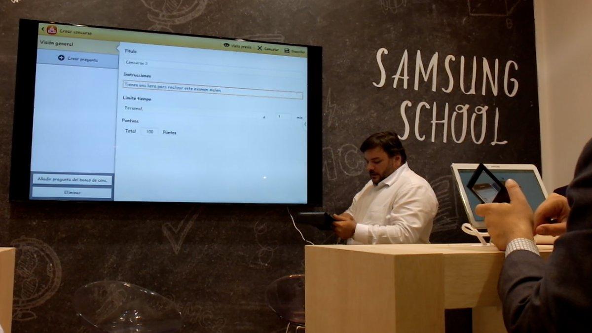 Presentada en SIMO Samsung School, solución de educación