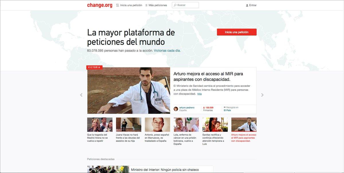 Change.org consigue 25 millones de dólares de financiación