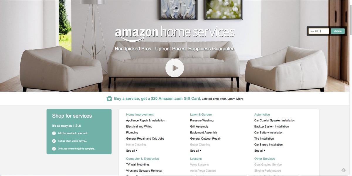 Amazon Home Services, servicios profesionales para el hogar