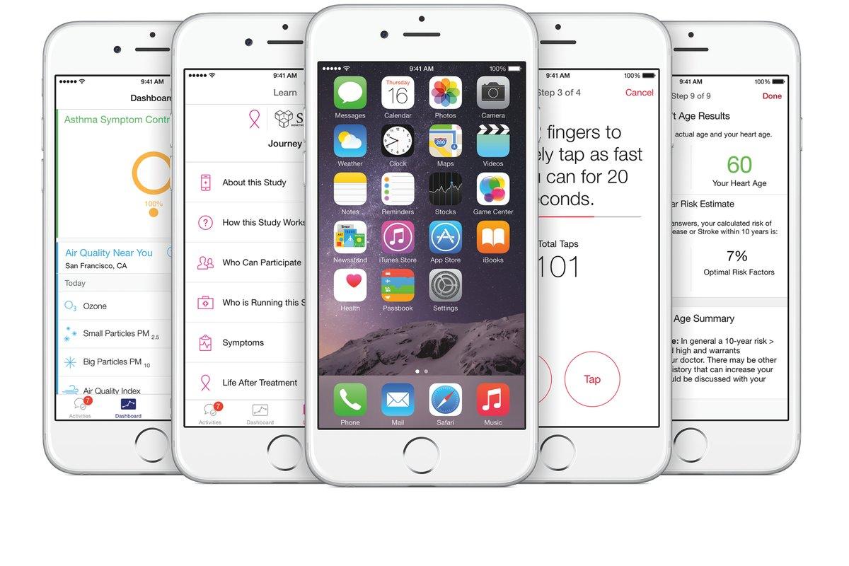 Apple lanza ResearchKit para apoyar la investigación médica