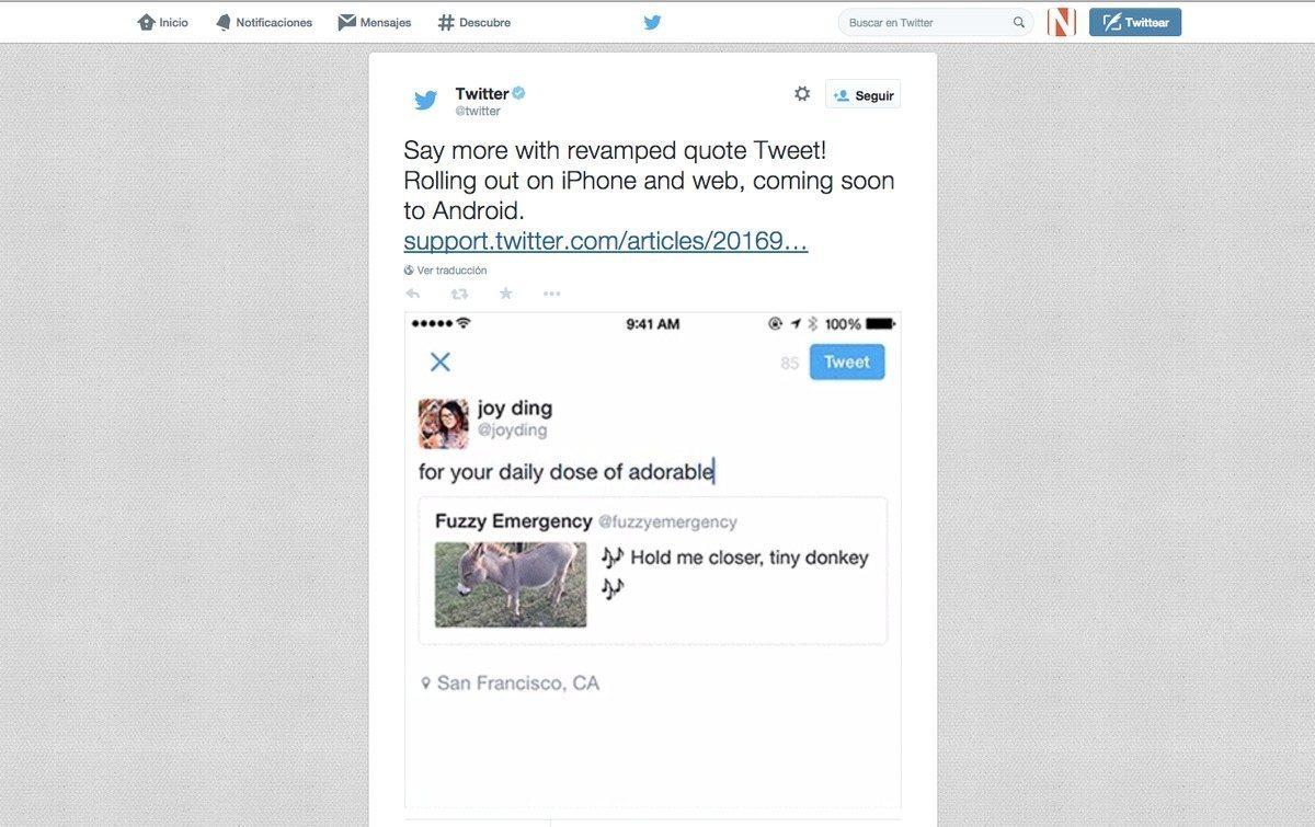 Twitter mejora los retuits con más caracteres para comentarios