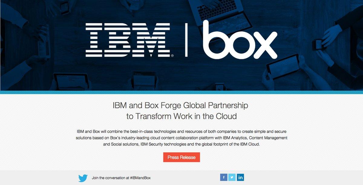 Box e IBM se alían para dar impulso a sus servicios en la nube