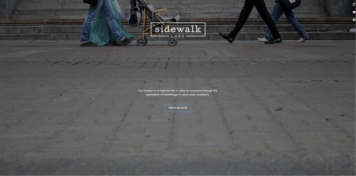 Sidewalk Labs, proyecto de Google para mejorar la vida en la ciudad