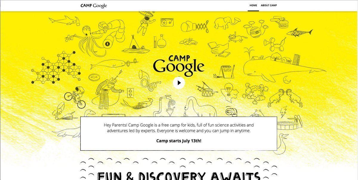 Camp Google, campamento online y gratis de ciencia para niños