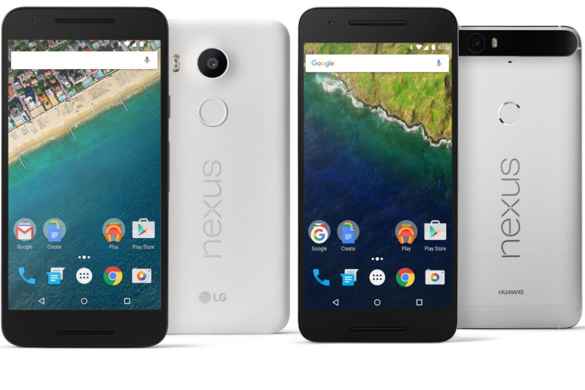 Google Nexus 5X y 6P, con sensor de huellas y Android 6.0 Marshmallow