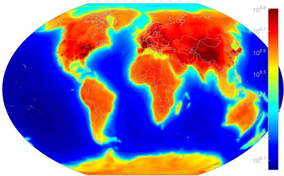 El mapa de la radiactividad de la Tierra, publicado en acceso abierto