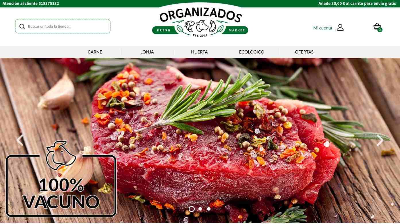 Organizados.es, alimentos frescos desde el productor a tu casa