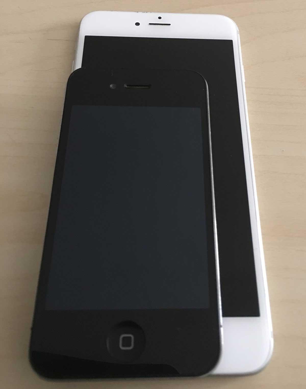 iPhone 6 Plus y iPhone 4
