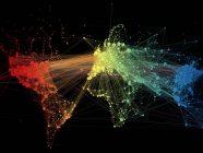 Así se ven las conexiones del tráfico aéreo de todo el planeta