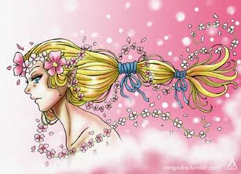 Adornan su cabello con lazos que brillan en la noche