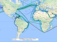 Mapa interactivo de todos los cables submarinos del mundo