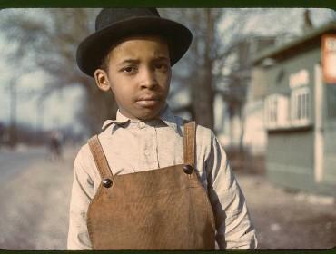 Niño afroamericano de Cincinnati
