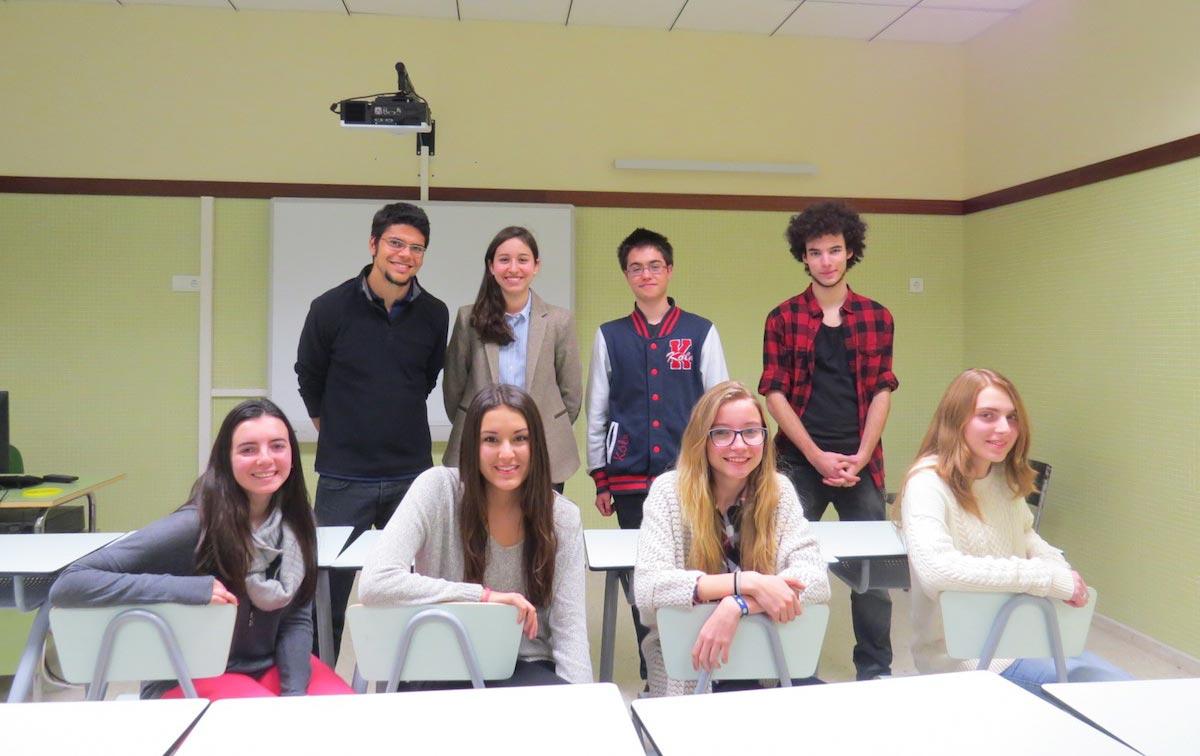 Alumnos del colegio Agustiniano en Euroscola